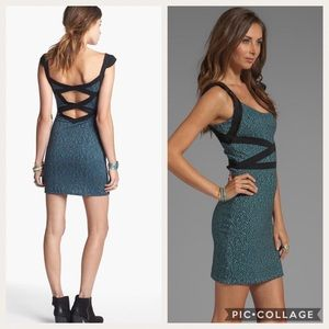 NWT Free People Cross My Heart Dress Pacific Blue